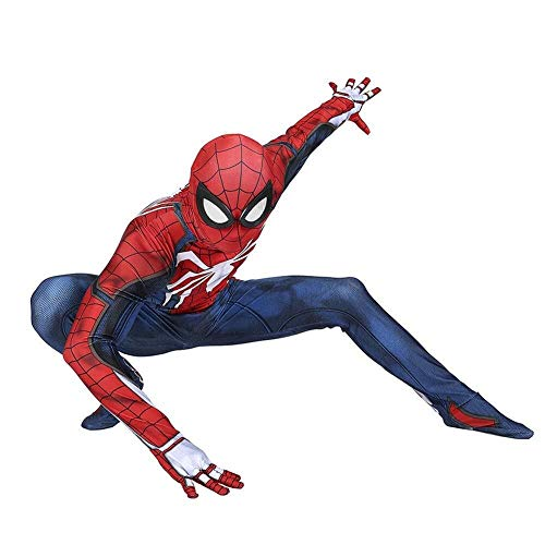 Hcxbb-b Erwachsene Spiderman Kostüm, Halloween Party Maskerade Super Fancy Cosplay Kostüm (Farbe : Adultred, Size : - Avengers Familie Kostüm