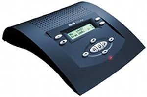 Tiptel 332 clip stahlblau Komfort-Anrufbeantworter mit Rufnummernanzeige, Nachrichtenweitermeldung und Abwesenheitsmanager