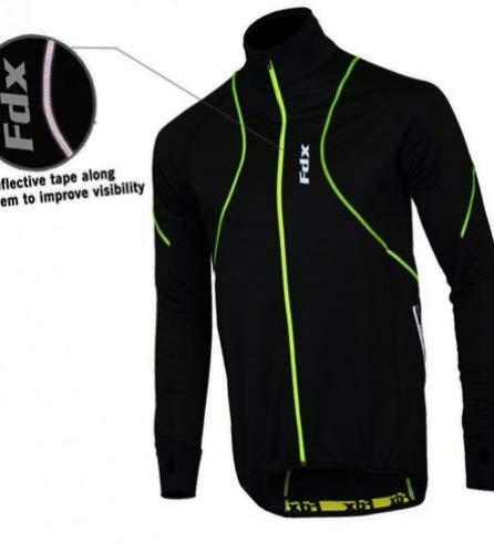 FDX Herren Hochleistungsjacke, Thermo-Windjacke zum Laufen und Fahrradfahren, gute Sichtbarkeit...