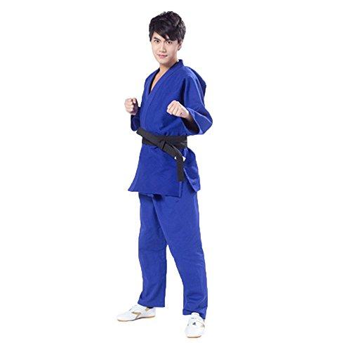 Unisex Judo-Anzug Karate und Taekwondo Training passt Kimono Jiu Jitsu Gi Judo Uniform Blau blau xxxl