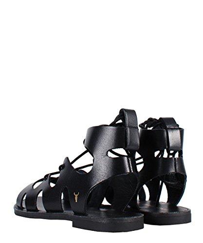 Windsor Smith Baby Sandal Black - Sandali Neri Stringati Black