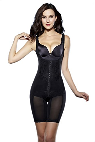 637f411783 Supplim Women s Full Body Shaper Waist Cincher Underbust Corset Bodysuit  Shapewear