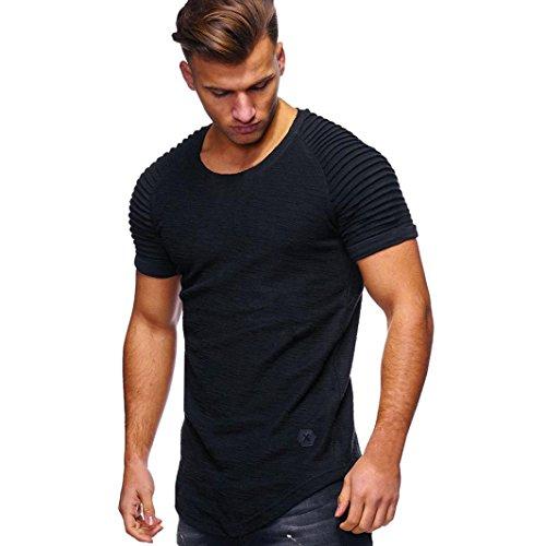 Kanpola T-Shirts Herren Mode Bluse Kurzarm Basic Fitness Shirt Tops