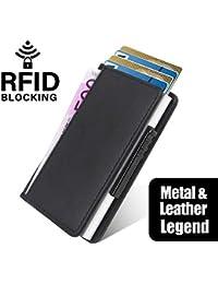 Neue Kreditkartentasche aus Aluminium von Hand eindrücken, automatische Anti-Entmagnetisierungs-Bankkarte, Clip-Metallclip, Kartenetui