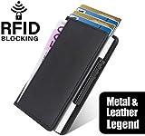 : Neue Kreditkartentasche aus Aluminium von Hand eindrücken, automatische Anti-Entmagnetisierungs-Bankkarte, Clip-Metallclip, Kartenetui