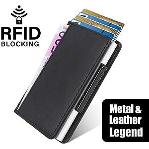 GYL Hong Neue Kreditkartentasche aus Aluminium von Hand eindrücken, automatische Anti-Entmagnetisierungs-Bankkarte, Clip…