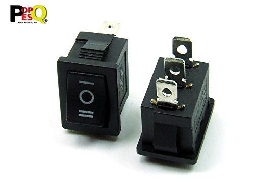 POPESQ® - 1 Piezas x Interruptor 1 Contacto ON-Off-ON