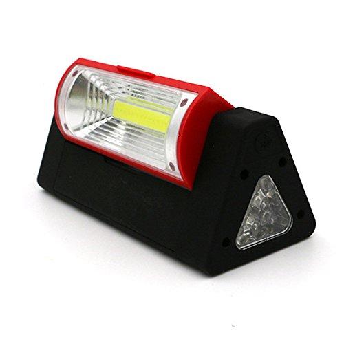 LED Arbeitsleuchte Taschenlampe Campinglicht,COLORFUL COB + 6 LED Arbeits Taschenlampe Laterne Camping Fahrrad Lampe (D)