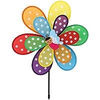 Tandou Windmill – Molinillo de Viento de Doble Capa, Colorido, Juguete para Niños, Patio, Decoración de Jardín