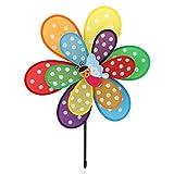 Fogun Windräder, 1 pc Doppelschicht Insekt Windmühle Bunte Wind Spinner Kinder Spielzeug Garten Rasen Hof Decor-Farbe Zufällige