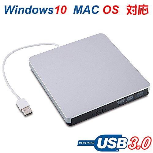 DVD Brenner extern Laufwerk USB 3.0 Tragbarer DVD-RW DVD/CD Brenner / Rewriter / Kopierer / Reader DVD CD ROM Externes Laufwerk für Apple Macbook Pro / Laptop / Desktops Windows und MAC OS