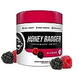Honey Badger Performance Energy Natural Pre Workout for Men & Women Wild Berry