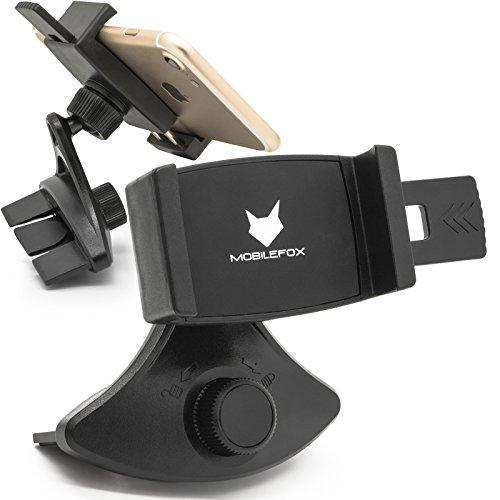 Mobilefox Universal 360° KFZ CD Slot Handyhalterung CD Schlitz Halter mit Klemme für HTC U11/U Ultra/Play