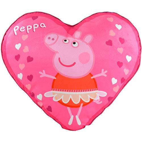 Peppa Cojín con Forma de corazón, Aprox. 40 cm.