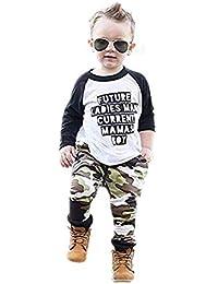 Rawdah_Conjunto Bebe NiñO Invierno Blusas Bebe NiñO Sudaderas Bebe NiñO Toddler Kids Baby Boy Clothes Letter T-Shirt Tops + Conjunto De Trajes De Camuflaje Pantalones