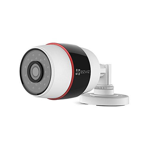 C3S IP Kamera, 1080P HD, Brennweite 4mm, WLAN 2.4GHz Outdoor Wetterfest Überwachungskameras Bullet-Kamera mit SD-Karten Steckplatz , Nachtsicht, Weiß (Security-kameras Mit Sd-karte)