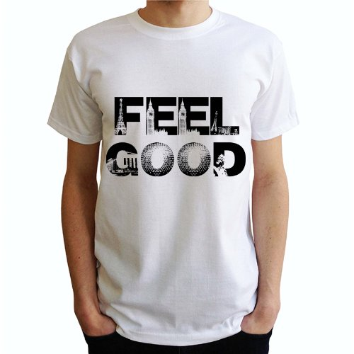 FEEL GOOD Herren T-Shirt Weiß