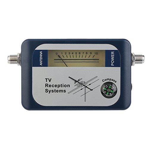 DVB-T Finder Antena Digital Antena de TV terrestre Señal Potencia Potencia Indicador del medidor Sistemas de recepción de TV con brújula