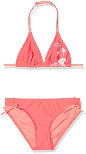 Roxy Mädchen Essent Rox Tri Essentially Bikini-Set, Neon Grapefruit, 14 (Tri 14 Colour)