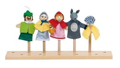 Goki 51898 - Marionetas de dedo, diseño Caperucita Roja por Goki