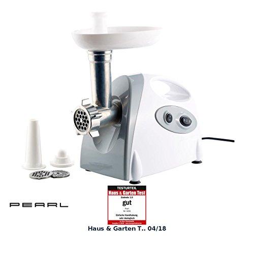 PEARL Fleisch Maschine: Elektrischer Multifunktions-Fleischwolf mit 800 Watt Drehleistung (Fleisch Zerkleinern Maschine) (Fleisch Fleischwolf Maschine)