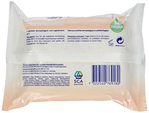 Demak'Up Mild und Soft Reinigungstücher, Abschminktücher für sensible und trockene Haut, 1 x 25 Tücher