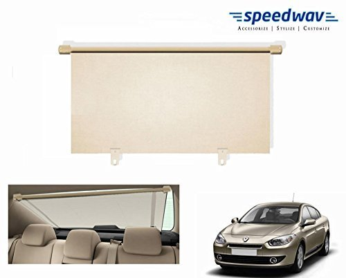 Speedwav Car Rear Window Roller Sunshade 100cm Beige- Renault Fluence
