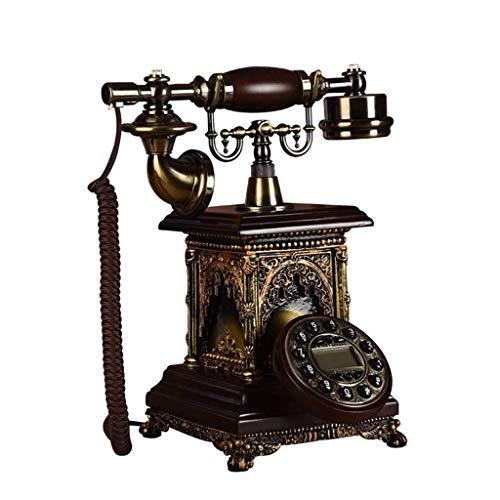 o Classical Home Wohnzimmer Dekoration Massivholz Blue Screen Backlit Telefon Büro Festnetz ()