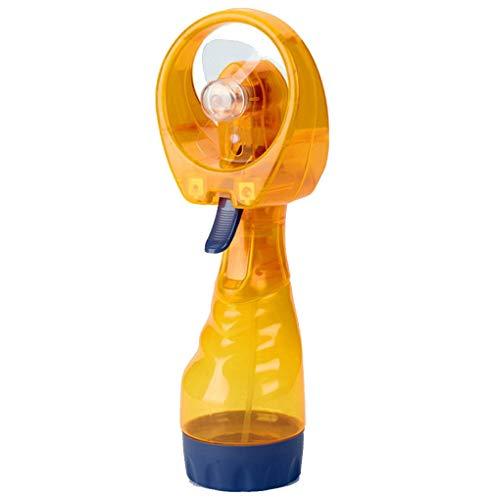 CAOQAO Mini Spray Atomisation De Refroidissement Ventilateur USB Ventilateur, RéGlable Ventilateur Portable Rechargeable,pour Maison, Bureau Et Le Voyage, La Marche, La RandonnéE, Le Camping,Jaune