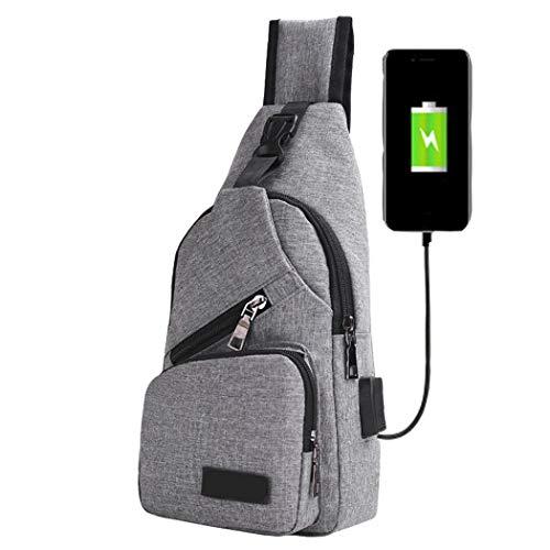 Mochila / bandolera de lona Mymotto con USB de carga por sólo 9,20€ usando el #código: FNQBC66A