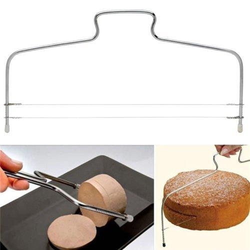 Preisvergleich Produktbild Minkoll Einstellbare Kuchen Cutter Leveler, Cutting Levelling Dekorieren Brot Drahtschneider Schneidwerkzeug