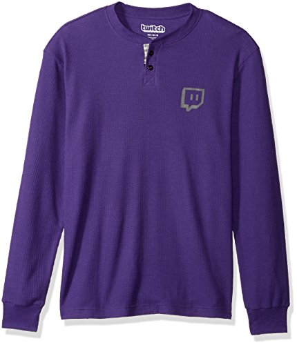 Thermal Henley Top (Twitch - Glitch Thermal Henley - Männer - Lila - X-Large)