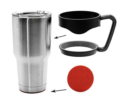 Légère Anti Slip Cup Tumbler Poignée Grip avec Anti Coaster coulissant pour 30 onces Yeti Rambler, Rtic Cooler en acier inoxydable Gobelets