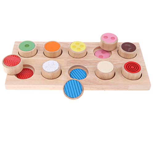 B Blesiya Juguete Montessori Madera Tablero Sensorial