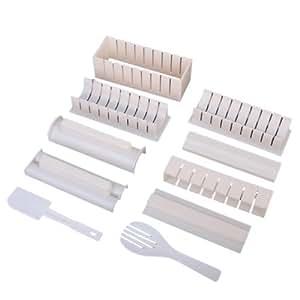sonline 10pcs set fabricant de sushi outil riz rouleau moule fabriquant cuisine. Black Bedroom Furniture Sets. Home Design Ideas