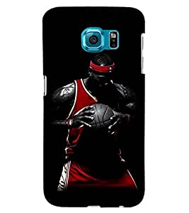 Printvisa Basketball Player In Action Back Case Cover for Samsung Galaxy S6 Edge::Samsung Galaxy Edge G925
