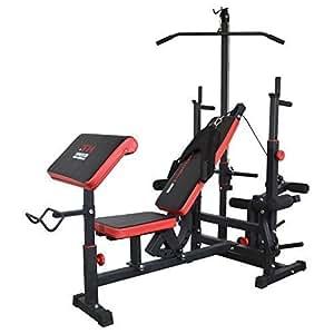 Trainhard banc de musculation noir rouge - Banc de musculation kettler sport rouge ...