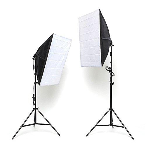 Mvpower 2x Estudio Fotografía Iluminación Trípode Difusor Softbox 50x70cm 2x 135W 5500K...