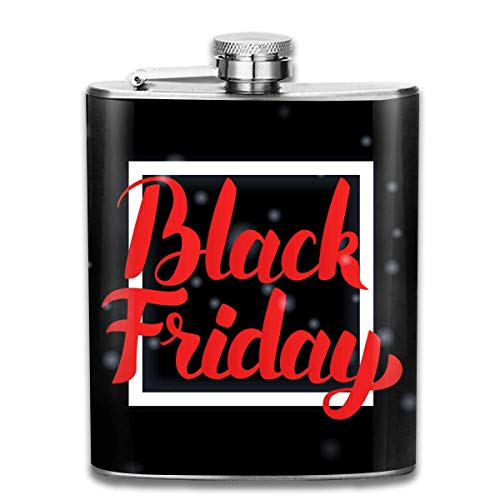 deyhfef Black Friday Sales Pocket Leak Proof Liquor Hip Flask Alcohol Flagon 304 Stainless Steel 7OZ Gift Box Outdoor