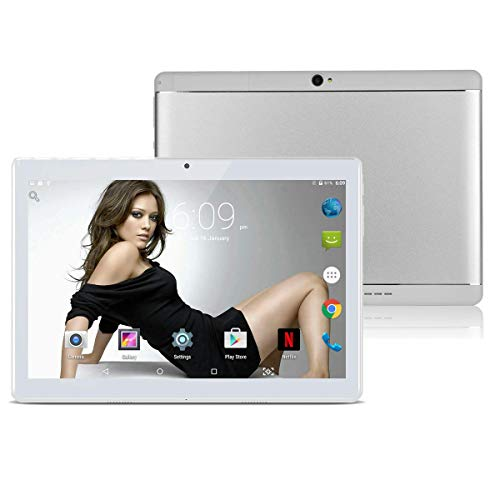 Android 8.1 Tablet 10 Zoll Dual-SIM,4GB RAM 64GB Speicher Octa Core CPU, 1920 * 1200 Full HD IPS Touchscreen,Dual Kamera 3MP und 8MP, WiFi/WLAN/Bluetooth/GPS TYD-108(silbernen)