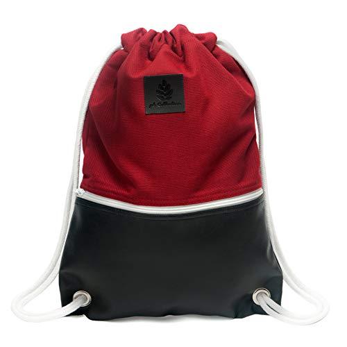 Pinebuy Turnbeutel Hipster Canvas Gymsack Gym Bag Beutel Sportbeutel Beuteltasche für Damen & Herren mit Innentasche - Aus robustem Baumwo...