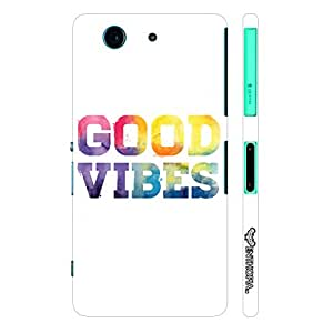 Sony Xperia Z3 Compact Good Vibes designer mobile hard shell case by Enthopia