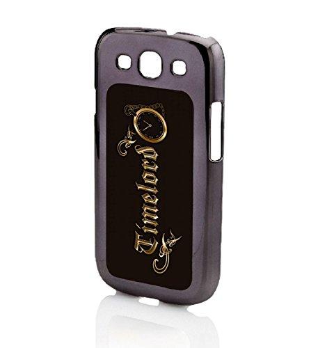 Schwarz-traveler-case (Timelord verschnörkelter Galaxy S3 Tasche schwarz)