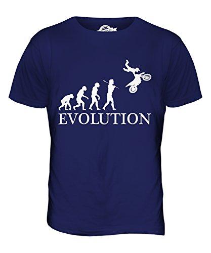 CandyMix Motocross Evolution Des Menschen Herren T Shirt Navy Blau