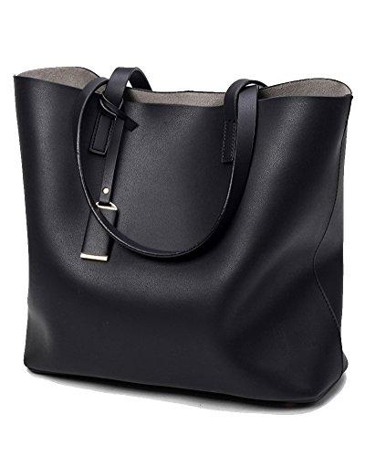 Damen Handtaschen Shopper Messenger Bags Einkaufstasche Mit Beutel Geldbörse Blau Schwarz