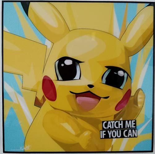 GLAGOODS Pokemon Pikachu Pokeball Charizard Iconic Movie Cartoon Pop Minions Art Art Leinwand Gerahmtes Poster Vinyl Geschenk Zitate