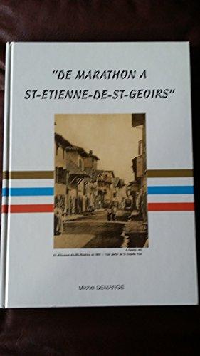 De Marathon à Saint-Étienne-de-Saint-Geoirs par Michel Demange