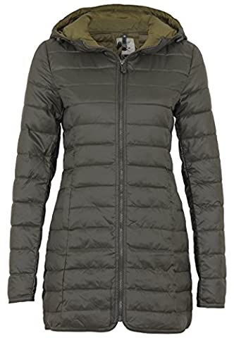 Only Jacket Onltahoe quilted contrast coat,