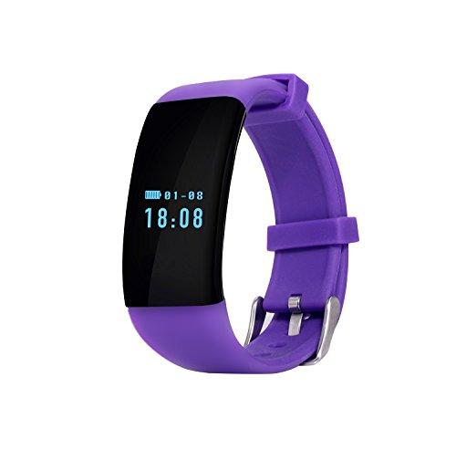 Smart Armband Herz Rate Monitor Fitness Tracker Activity Tracker Bluetooth Schrittzähler mit Sleep Monitor Smartwatch Schnell Ladekabel für Android und IOS Smartphones -