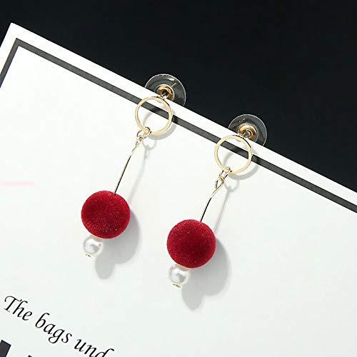 SGDBBR Ohrringe mit Liebeskugeln, handgewebt, für Studenten aus Nickel, Wilde Ohrringe für Frauen (14)
